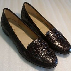 Talbots brown penny loafers size 9AA